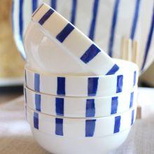 Dinner Porcelain Blue Style Ceramic Soup Rice Bowl