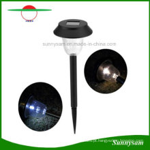 Jardim de aço inoxidável Lâmpada de gramado solar LED Mushroom Solar Garden Lawn Light
