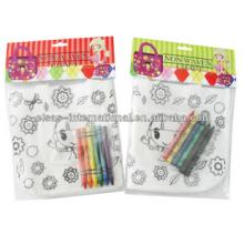 дети DIY Non сплетенный мешок картину с карандашом