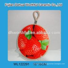 Porte-pot en céramique à la vente chaude avec motif fraise