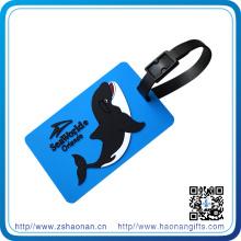 Kundenspezifischer prägeartiger Logo-Gepäckanhänger mit Plastikaufhänger