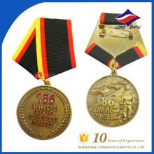 Fita de medalha militar de metal finamente processada finamente processada