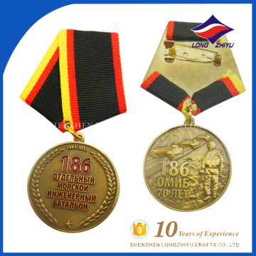 Wholesale finely processed custom metal military medal ribbon