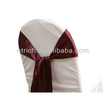 guinda, marco de la silla del satén lujo vogue corbata, corbata de lazo, nudo, lazos de silla para bodas
