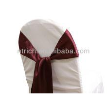 Bourgogne, ceinture de chaise satin fantaisie vogue cravate, noeud papillon, noeud, des liens de chaise pour les mariages
