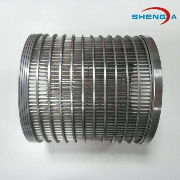 316L Elemen Filter Kawat Aksial Internal