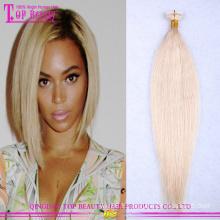 2.5g / pièce miel blond # 27 en gros bande dans les extensions de cheveux extensions de cheveux de bande vierge brésilienne
