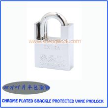 Cadeado de palheta protegido cromado de alta qualidade manilha