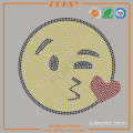 Kissing Face Emoji hot fix rhinestone patterns