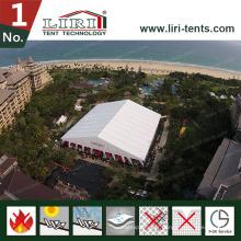 Couvertures de toit blanches énormes de PVC de 40X100m et parois latérales blanches de PVC pour des ventes chaudes