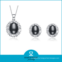 Charming Noble Silver Jewellery Set with Custom Design (J-0143)