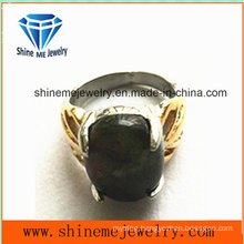 Fashion Body Jewelry Black Gemstone Finger Ring (SCR2886)