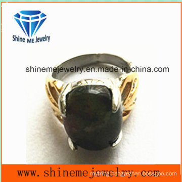 Fashion Body Jewelry Black Gemstone Finger Ring (SCR2886)