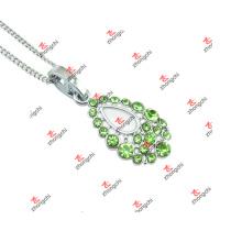 Nouveaux bijoux en alliage personnalisé en alliage en cristal vert (SDK60128)