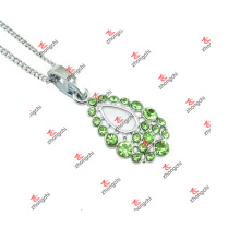 New Custom Alloy Green Color Rhinestone Charms Jewelry (SDK60128)