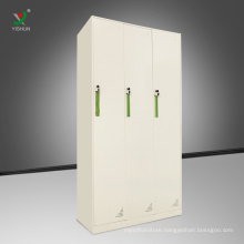 Steel furniture 3 door locker steel cloth storage locker cabinet