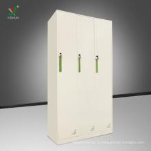 Стальная мебель 3-х дверный шкафчик стальной ткани для хранения шкафчик шкаф