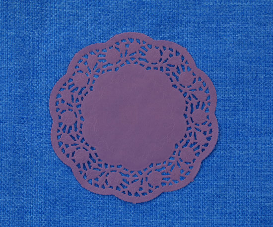 Printed paper doily 14cm