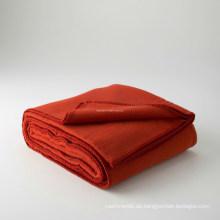 Doppel-Fleece Overlockte Kante Decke (B11223)