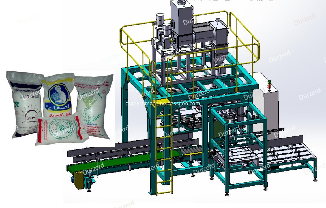 Kraft paper bag powder packaing machine
