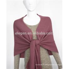 Echarpe acrylique en pure couleur tricotée