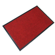 Hotel entrance durable ribbed polyester door mat