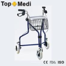 Rouleau carriable léger avec cadre en acier pour homme âgé