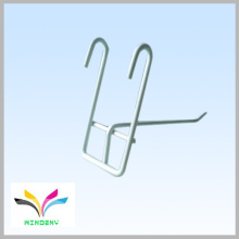 Smart design metal gridwall flat item display wire hook
