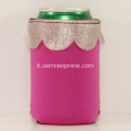 Regali di nozze Design in pizzo Neoprene Can Holder Koozie