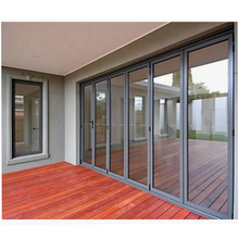 AS standard factory price double tempered clear glass folding glass door
