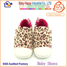 Fashion top sell popular toddler shoes soft leopard print baby shoes