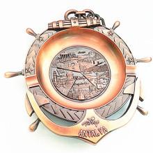 Turkcy Souvenir Antique Brass Metal Ash Tray with Logo (B5006)