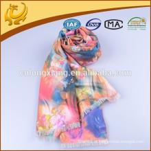 Clássicas Várias cores Tecidas 100% Viscose Pashmina Wrap Shawls, Instant Rose Roseta impressa