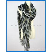 Пружинный шарф, полиэфирный шарф, окрашенный в прядь шарф