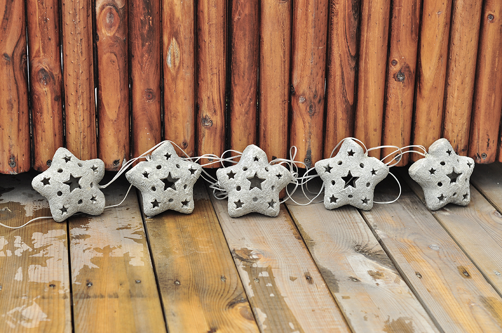 Garden Light String Star 5 Pcs Set