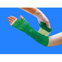 Cinta de fundición sintética de fibra de vidrio ortopédica de poliéster médico multicolor impermeable (XT-FL033)