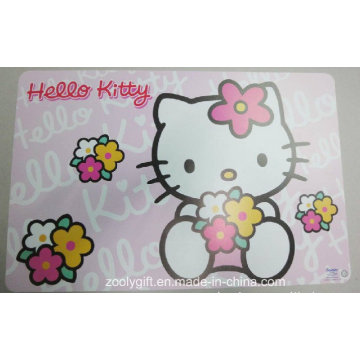 Lovely Design Printing PP Table Place Mat Desk Pad