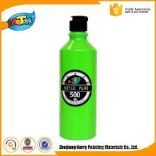 Pintura acrílica amigável do eco dos produtos da pintura acrílica do artista 500MLCustomized verde