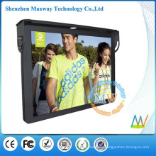 Support WiFi or 3G network 19 inch advertising player bus