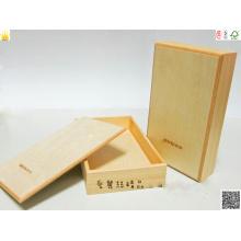 Boîte en bois avec Hotstamping et Spot UV