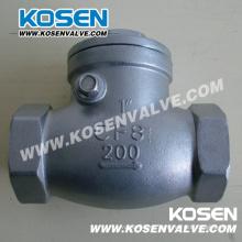 Válvula de retención oscilante de acero inoxidable 200lb