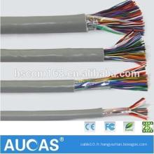 Fabrication en Chine à l'intérieur, à l'extérieur 0,4 mm à 0,5 mm Câbles à communication multipartite Câble téléphonique souterrain
