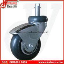 Rueda giratoria de 3 pulgadas para muebles con doble rodamiento de precisión