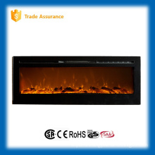 "50"" build in imitation fire wall hanging fireplace with remote control"