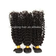 100% unverarbeitete menschliches reines brasilianisches Haar verworrenes lockiges