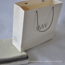 White Cardboard Paper Shopping Bag for Clothes Packing