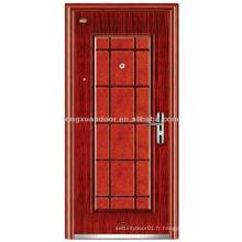 Porte de tempête de sécurité en acier Gardez votre maison sécurisée