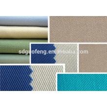 97 algodón 3 spandex twill tela 32S alta calidad stretch twill tela de spandex de algodón para pantalones