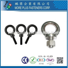 Taiwan Stainless Steel Alloy Steel Padrão liso Straight Shank Eyebolts Under Size Body Eye Bolt