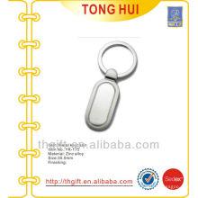 Blank Long strip shape pendant keychains metal